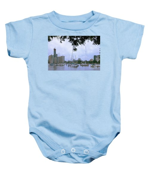 Sailboats In Brisbane Australia Baby Onesie