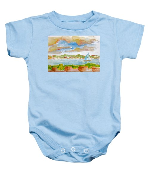 Sailing On The River Baby Onesie