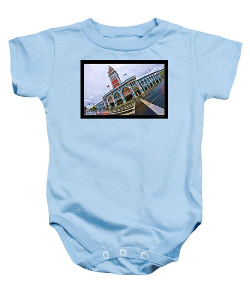 San Francisco Ferry Building Giants Decorations. Baby Onesie