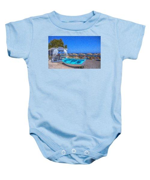 Santorini Beach Boat Grk4151 Baby Onesie