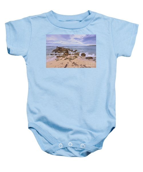 Seascape With Rocks Baby Onesie