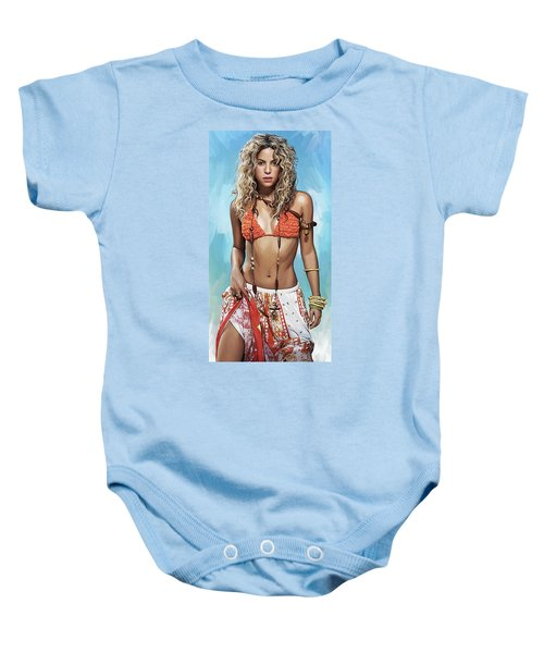 Shakira Artwork Baby Onesie by Sheraz A