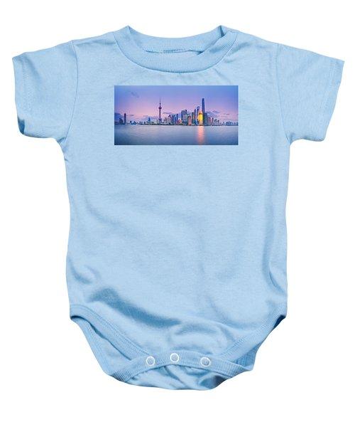Shanghai Pudong Skyline  Baby Onesie