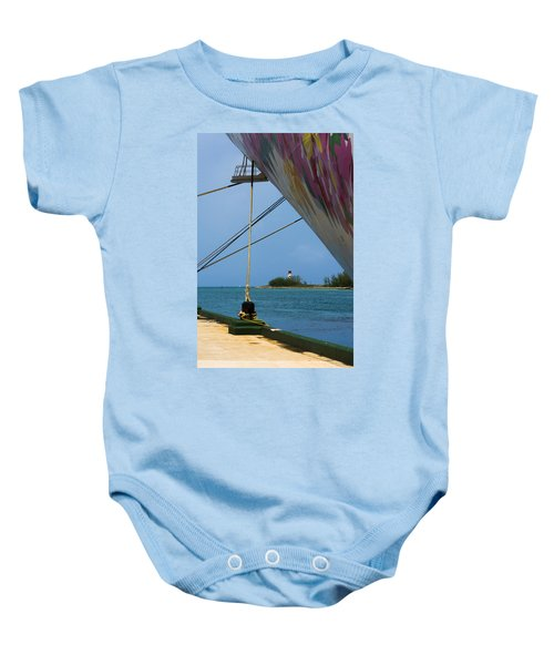 Ship's Ropes And Lighthouse Baby Onesie