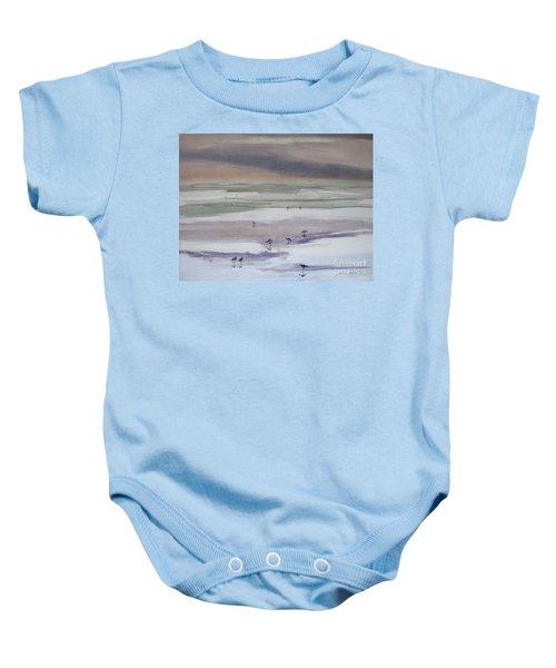 Shoreline Birds II Baby Onesie