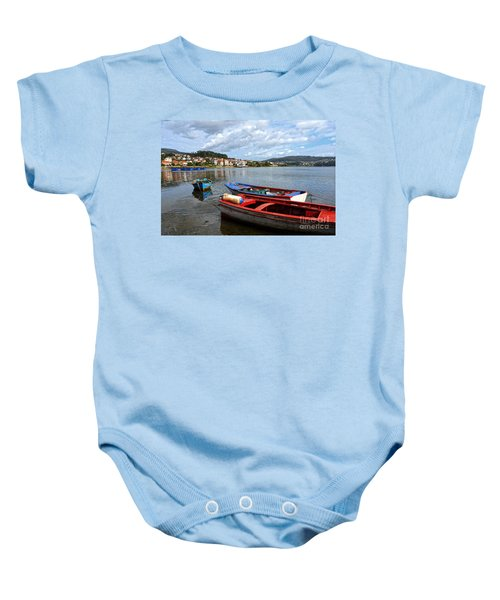 Small Boats In Galicia Baby Onesie