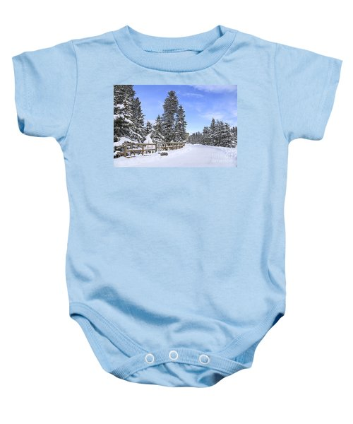 Snow Path Baby Onesie