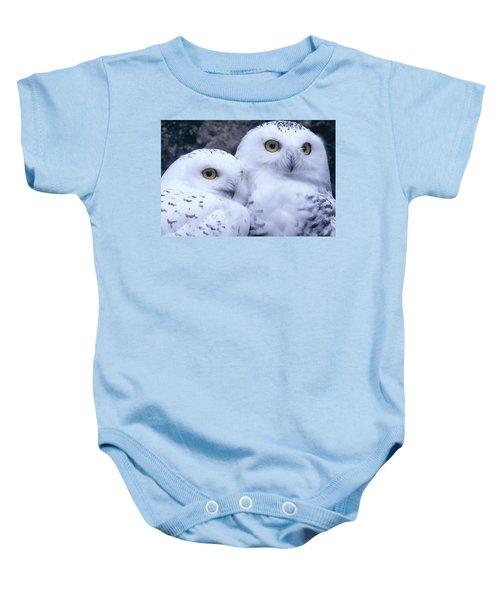 Snowy Owls Baby Onesie