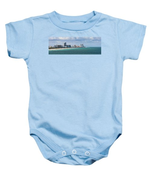South Beach On A Summer Day Baby Onesie