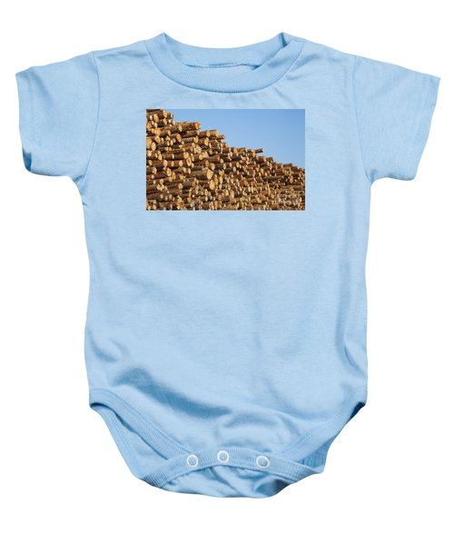 Stacks Of Logs Baby Onesie