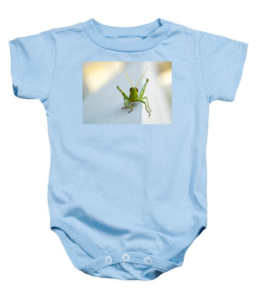 Staring At Me Baby Onesie by Shelby  Young