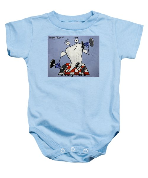 Strong Teeth Baby Onesie