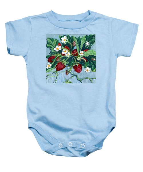 Summer Strawberries Baby Onesie