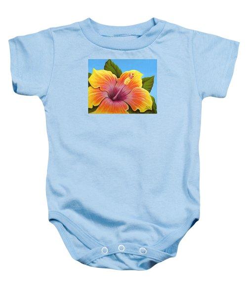 Sunburst Hibiscus Baby Onesie