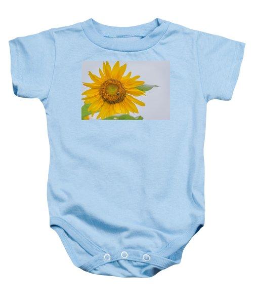 Sunflower And Bee Baby Onesie
