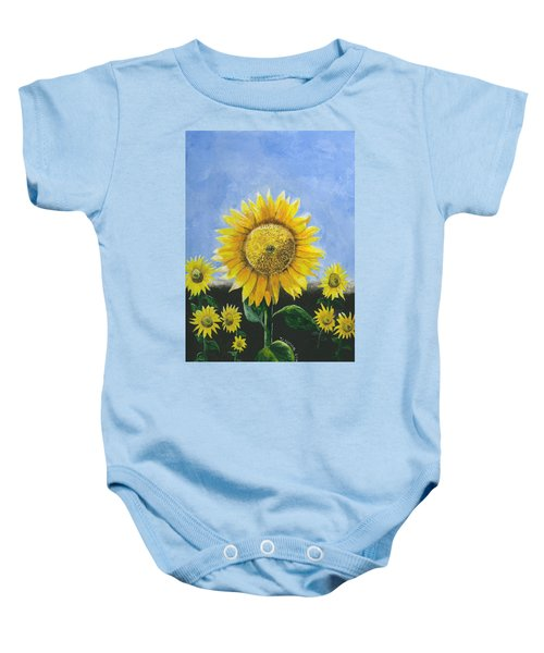 Sunflower Series One Baby Onesie