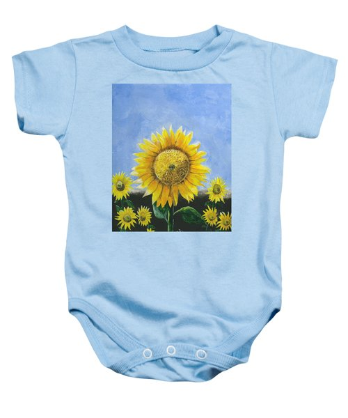 Sunflower Series One Baby Onesie