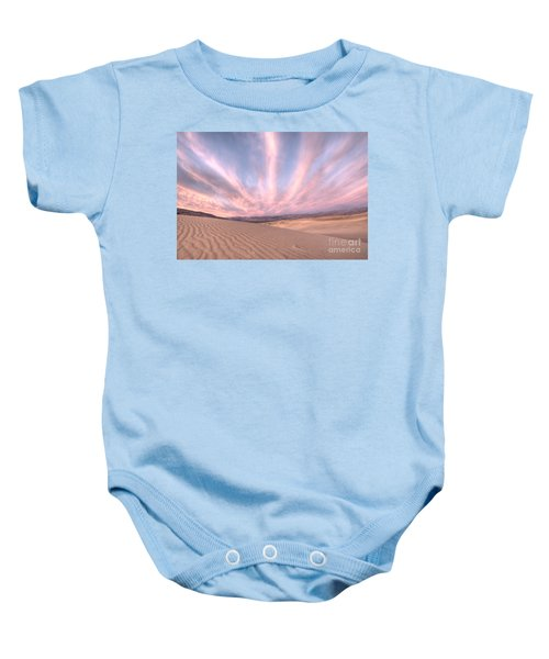 Sunrise Over Sand Dunes Baby Onesie