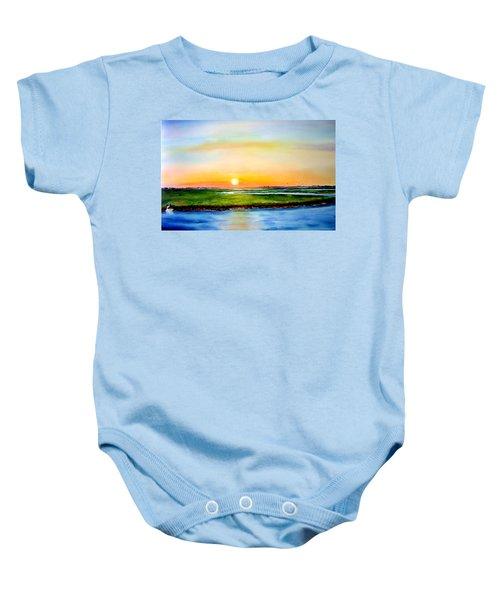 Sunset On The Marsh Baby Onesie