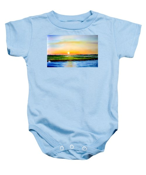 Sunset On The Marsh Baby Onesie