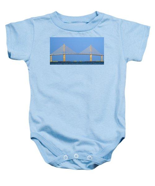 Sunshine Skyway Panorama Baby Onesie