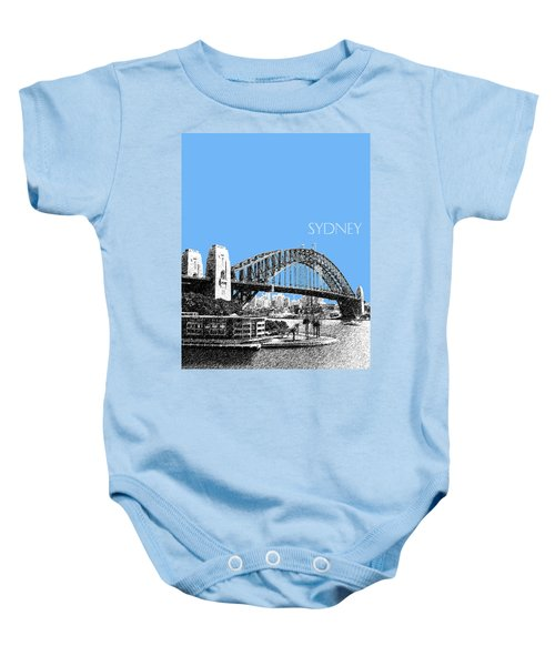 Sydney Skyline 2 Harbor Bridge - Light Blue Baby Onesie