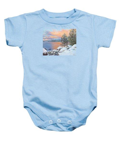 Tahoe Winter Colors Baby Onesie