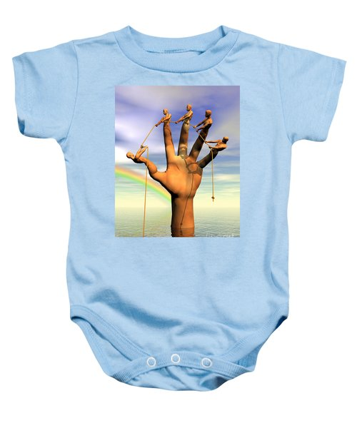 The Hand Is The Sum Of Its Fingers Baby Onesie