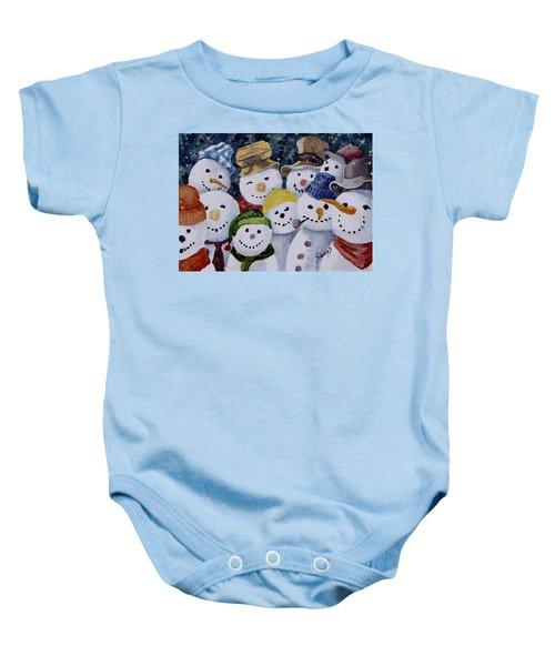 Ten Little Snowmen Baby Onesie