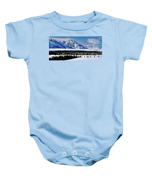 Teton Valley Winter Grand Teton National Park Baby Onesie