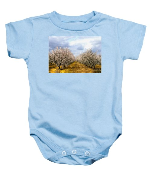 The Almond Orchard Baby Onesie