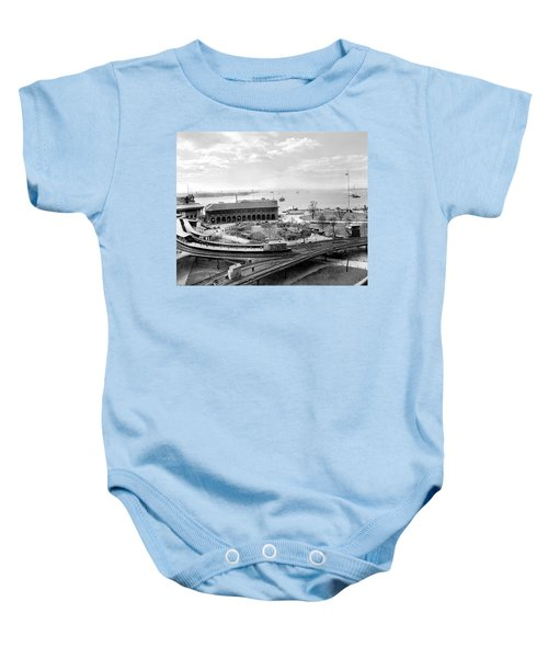 The Battery In Manhattan Baby Onesie
