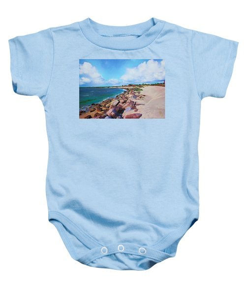 The Beach At Ponce Inlet Baby Onesie