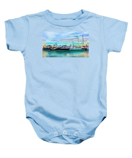 The Boats Of Malaga Spain Baby Onesie