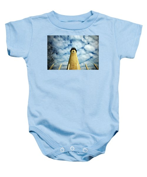 The Fenwick Light And A Mackerel Sky Baby Onesie