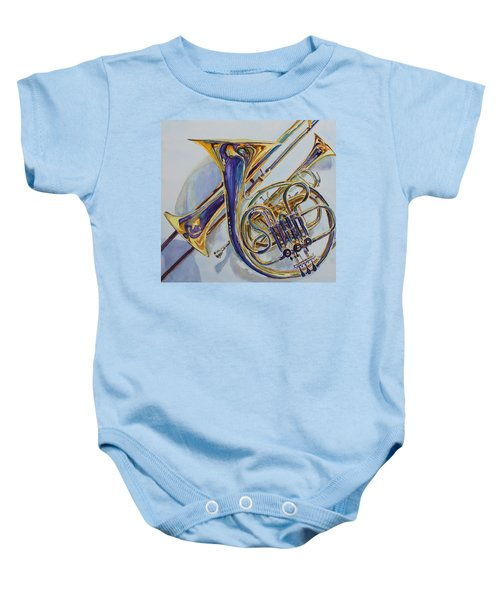 The Glow Of Brass Baby Onesie