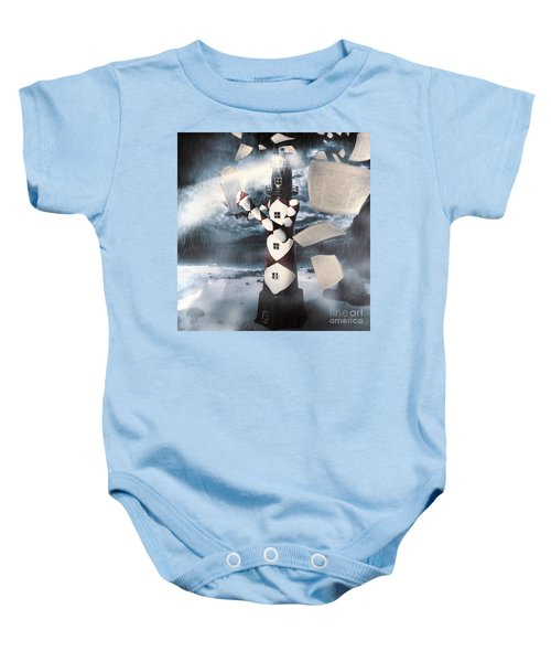 The Lighthouse And The Fishermans Tale Baby Onesie