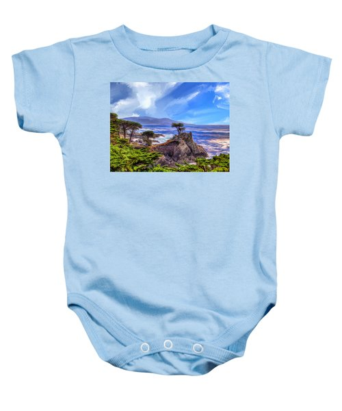 The Lone Cypress Baby Onesie