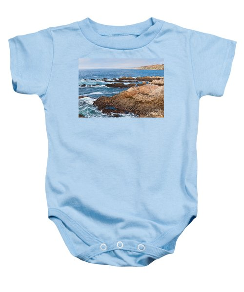 The Observer - Jagged Rocks And Cliffs Of Montana De Oro State Park In California With Man Sitting Baby Onesie