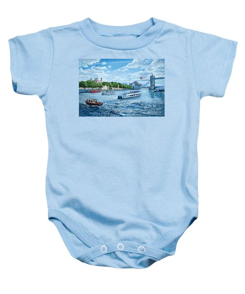 The Tower Of London Baby Onesie by Steve Crisp