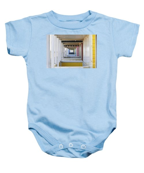 Through The Beach Huts Baby Onesie