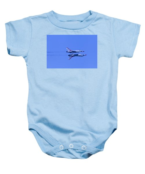 Thunderbirds Solos 6 Over 5 Inverted Baby Onesie