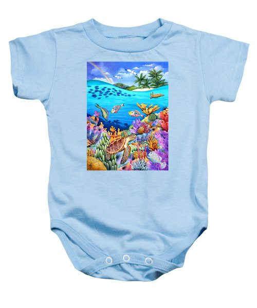 Under The Rainbow Baby Onesie