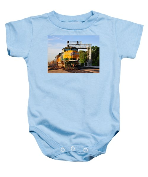 Union Pacific Chicago And North Western Heritage Unit Baby Onesie