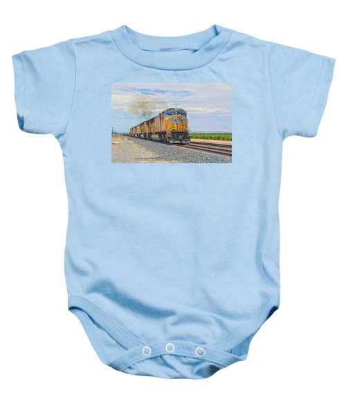 Baby Onesie featuring the photograph Up4421 by Jim Thompson