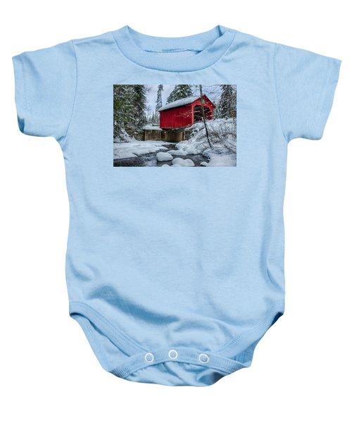 Vermonts Moseley Covered Bridge Baby Onesie
