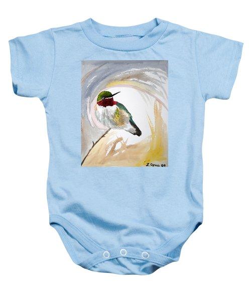 Watercolor - Broad-tailed Hummingbird Baby Onesie