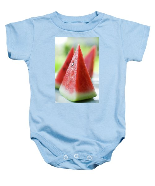 Watermelon Wedges Baby Onesie