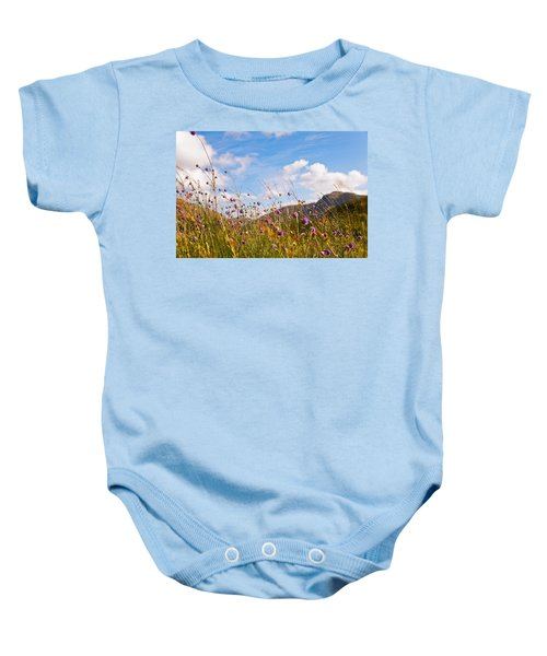 When The Sun Is Shining Everything Around Smiling Towards. Scotland Baby Onesie