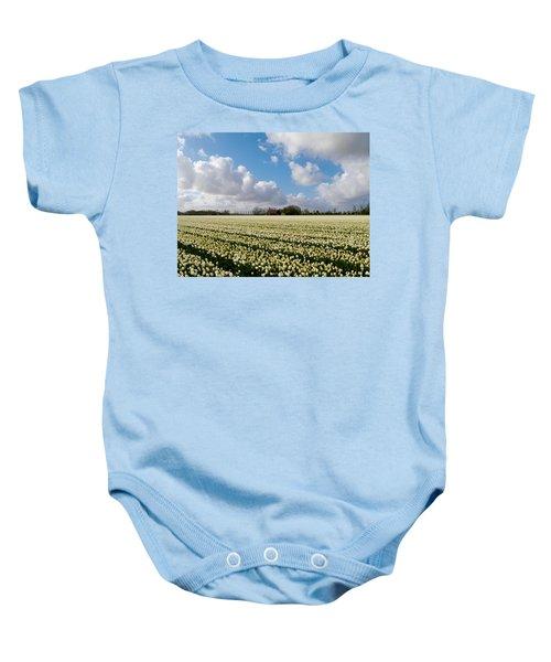 White Field Baby Onesie